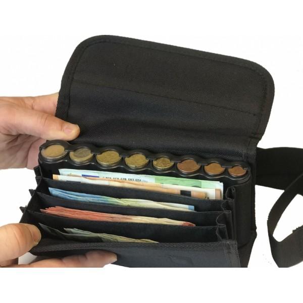 Čašnícka peňaženka s MINCOVNÍKOM - TEXTÍLNÁ